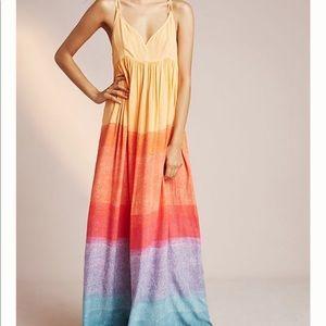 Anthropologie Sun Setting Maxi Dress